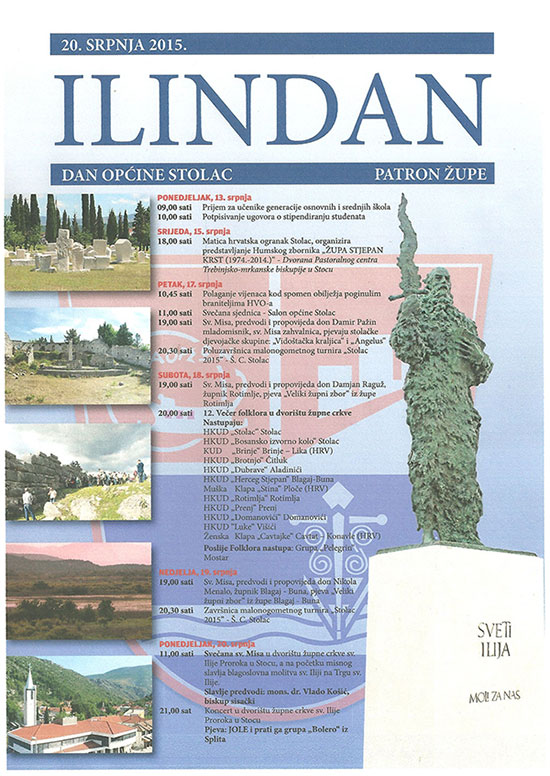 ILINDAN 2015. - PROGRAM